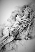Artistic Beautiful Figure Study Posters - Erotic SketchBook Page 2 Poster by Dimitar Hristov