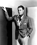 Pocket Square Prints - Errol Flynn, 1930s Print by Everett