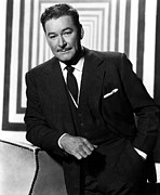Pinstripe Suit Prints - Errol Flynn, 1950s Print by Everett