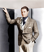 Pocket Square Prints - Errol Flynn, Ca. 1930s Print by Everett