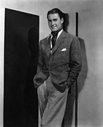 Errol Framed Prints - Errol Flynn, Ca. 1935 Framed Print by Everett