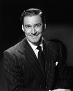 Pinstripe Suit Prints - Errol Flynn, Ca. 1940s Print by Everett