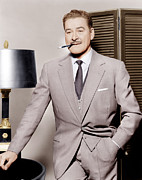 1950s Portraits Prints - Errol Flynn, Ca. 1950s Print by Everett