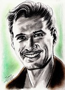 Hood Drawings Metal Prints - Errol Flynn Metal Print by Joane Severin