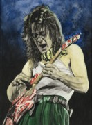 Van Halen Painting Prints - Eruption at Arco Print by Lance Gebhardt