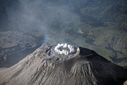 Emitting Framed Prints - Eruption At Summit Of Santiaguito Dome Framed Print by Richard Roscoe