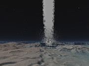 Neptune Prints - Eruption Of An Ice Volcano Print by Walter Myers