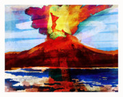 Canary Mixed Media Originals - Eruption of Teide  by Zbigniew Rusin