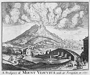 1630 Prints - Eruption Of Vesuvius In 1630 Print by Middle Temple Library