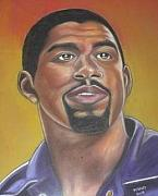 Magic Johnson Art - Ervin Magic Johnson by Bernell  Heard