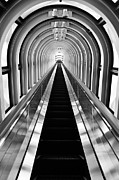 Escalator Framed Prints - Escalation Framed Print by Dean Harte