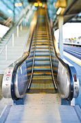 Escalator Prints - Escalator Going Up Print by Eddy Joaquim