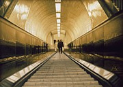 Photorealism Prints - Escalator Print by Max Ferguson