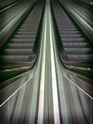 Escalator Framed Prints - Escalator Framed Print by Popiart