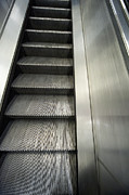 Escalator Prints - Escalator Stairs Print by John Harper