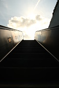 Escalator Framed Prints - Escalator to Heaven Framed Print by David Paul Murray