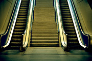 Escalator Metal Prints - Escalators And Stairs Metal Print by Joana Kruse