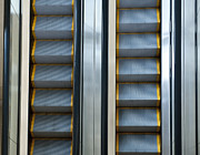 Automated Framed Prints - Escalators Framed Print by Dave & Les Jacobs