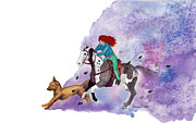 Quarter Horse Framed Prints - Escape Framed Print by Burcu Alisan