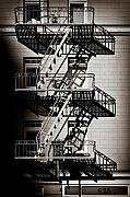 Fire Escape Metal Prints - Escape Metal Print by David Bowman