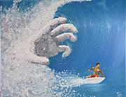 Surf Paintings - Escape by Michael Holmes