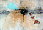 Oil Mixed Media Originals - Escape Velocity by Mark M  Mellon