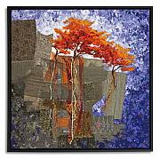 Roots Tapestries - Textiles - Escarpment 13 by Lorraine Roy