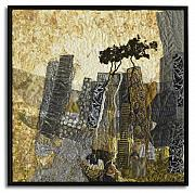 Rocks Tapestries - Textiles Originals - Escarpment 14 by Lorraine Roy