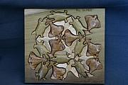 Otters Originals - Escher inspired  Otters  Geese and Sole by Raymond DeMeo