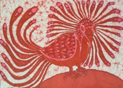 Fine Art Batik Tapestries - Textiles - Eskimo Bird by Carol  Law Conklin