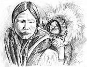 John Keaton Art - Eskimo Mother And Child by John Keaton