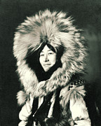 Padre Art Photos - Eskimo Woman Posing 1915 by Padre Art