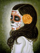 Painted Face Prints - Esmeralda Print by Al  Molina