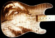Esp Guitars Pyrography - ESP Custom Guitar by Dino Muradian