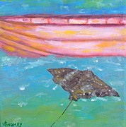Puerto Rico Paintings - Esperanza Butterfly by Valerie Twomey
