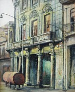Cityscapes Paintings - Esplendor en la habana by Tomas Castano