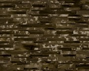 Espresso Brown Marble Collection Print by Lee Ann Asch