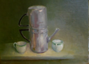 Italian Kitchen Paintings - Espresso for Two by Kathleen Hoekstra