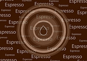 Graphic Mixed Media Prints - Espresso Print by Frank Tschakert