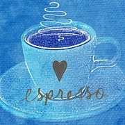 Heart Mixed Media Prints - Espresso Print by Linda Woods