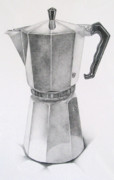 Espresso Drawings - Espresso Maker by Ferris Cook
