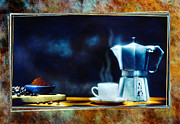 Coffee Pyrography Framed Prints - Espresso  Framed Print by Mauro Celotti