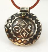Tucson Arizona Jewelry Originals - Esprit Del Sol Fine Silver Sun Necklace by Virginia Vivier