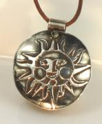 Tucson Arizona Jewelry Originals - Esprit Del Sol Fine Silver Sun Pendant by Virginia Vivier