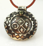 Tucson Arizona Jewelry Originals - Esprit del Sol Petroglyph - Fine Silver Necklace by Esprit Mystique