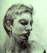 Fine Art Drawing Prints Drawings Originals - Esquisse for portrait of Clara 4 by Yuki Komura
