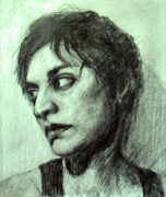 Fine Art Drawing Prints Drawings Originals - Esquisse for portrait of Clara 9 by Yuki Komura