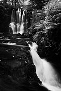 Ess-na-crub Waterfall On The Inver River In Glenariff Forest Park County Antrim Northern Ireland Print by Joe Fox