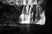River Flooding Photo Posters - Ess-na-crub Waterfall On The Inver River In Glenariff Forest Park County Antrim Northern Ireland Uk Poster by Joe Fox