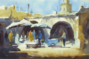 Essaouira Paintings - Essaouira fish market by Kristina Jurick